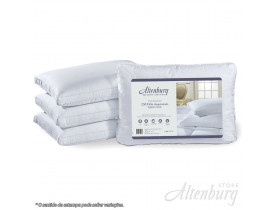 Travesseiro Altenburg 250 fios maquinetado Suporte Firme Branco - 50cm x 70cm