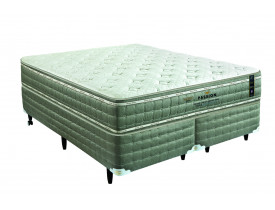 CAMA BOX KING KOIL PASSION LÁTEX GEL QUEEN 158 X 198