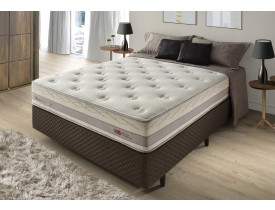 CAMA BOX CASAL HERVAL TOWER, DUPLA FACE, MOLAS MAXSPRING 1,38X1,88